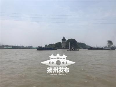 八分钟大营救!四条船在扬州遇险,急流中失控……
