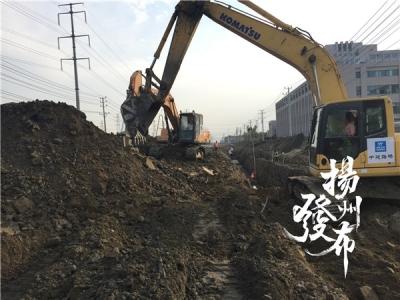 扬州南区这条骨干大通道正在改扩建,计划明年上半年竣工通车
