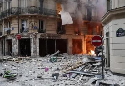 巴黎市中心爆炸已致4死36伤,2名死者为消防员