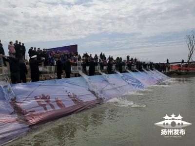 高寶邵伯湖再啟放魚節 500萬尾魚蝦蟹入湖定居