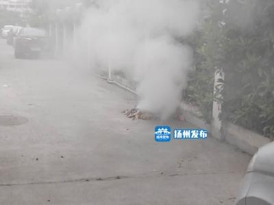 【我+新闻】扬州一小区冒烟居民以为轿车自燃,谁知是……