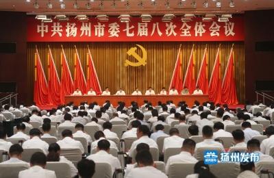 中共扬州市委七届八次全会在扬举行