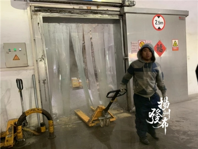 """【诚信彩票网投app视频】一秒钟,从扬州盛夏""""走""""进东北的冬天"""