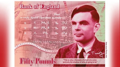 """""""人工智能之父""""艾伦·图灵登上英国50英镑新钞"""