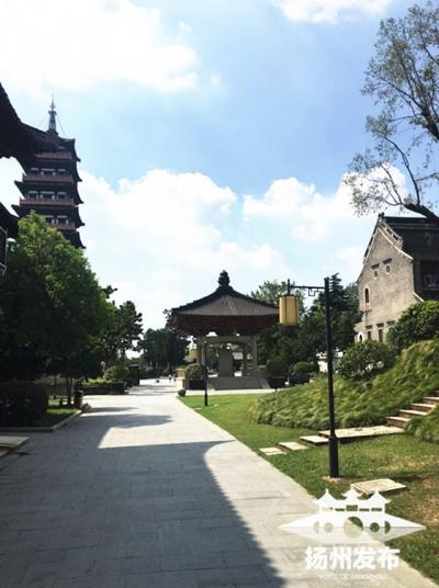 扬州大明寺再添一座唐亭,与鉴真纪念堂相映成趣
