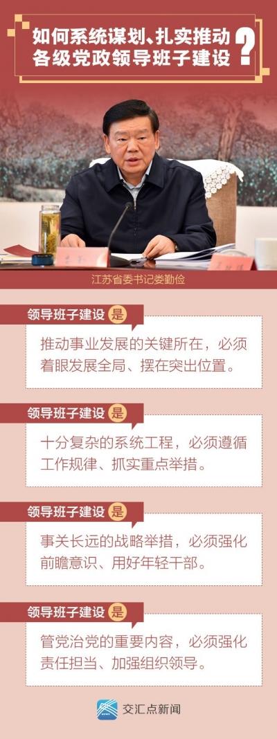 如何推動江蘇各級黨政領導班子建設?婁勤儉提四點要求