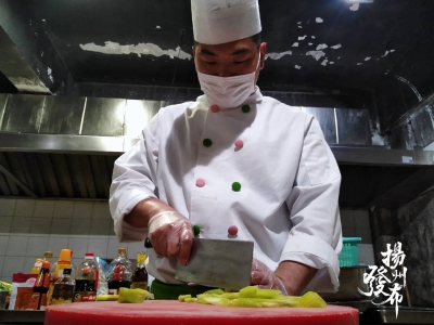 吃了狮子头还想吃煮干丝!扬州大厨为195名省医疗队员加餐