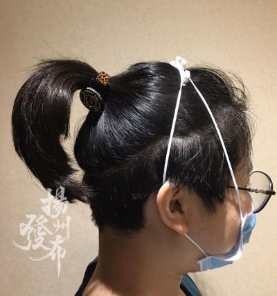 """口罩戴長了壓得耳朵痛!怎么破?揚州醫護創新的口罩固定""""神器""""了解下……"""