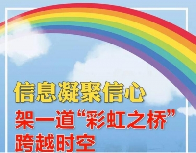 """一道""""彩虹之橋"""" 穿越疫情陰霾"""