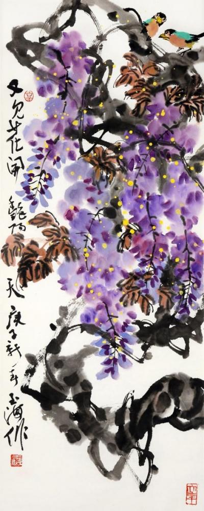 【書畫苑】率真之筆 陽剛之氣——劉玉海和他的寫意花鳥