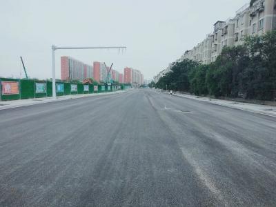 【民生传送】文苑路西延完成沥青摊铺,文峰小学北侧添新路