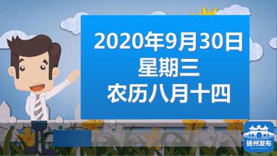 """扬州早七点:官方发布!""""双节""""天气预报来了~"""