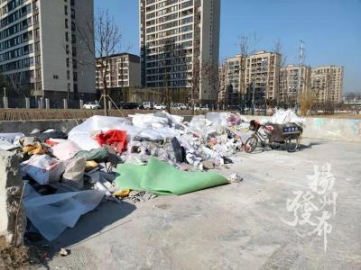 【马上办】焦家桥附近建筑垃圾池多久清一次?社区回应……