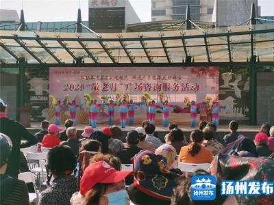 """我们的节日·重阳 扬州2020年""""敬老月""""广场咨询活动举行"""