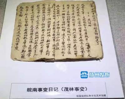 弥足珍贵!仪征人收藏的这本泛黄手抄日记,见证了皖南事变