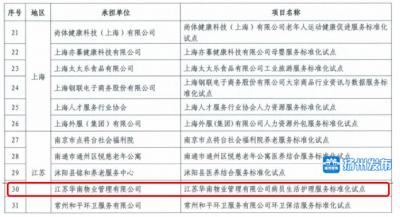 喜讯!扬州获评1项国家级服务业标准化试点项目