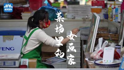 【扬州发布视频】扬州女子一边卖菜一边画画:最大梦想办画展